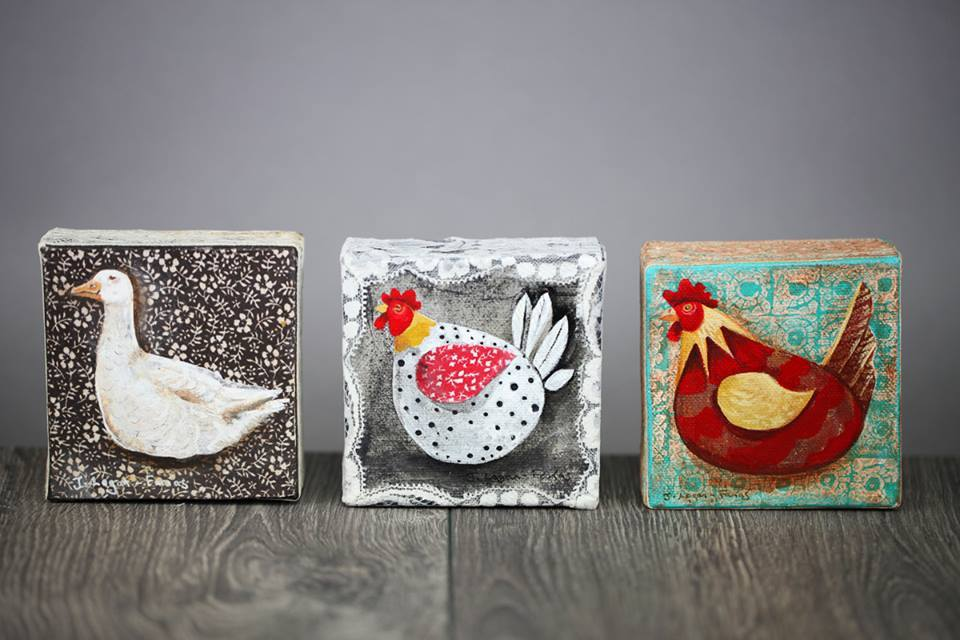 Poultry mini canvas series